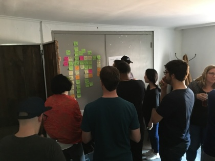 Automattic designers doing a collaborative design exercise